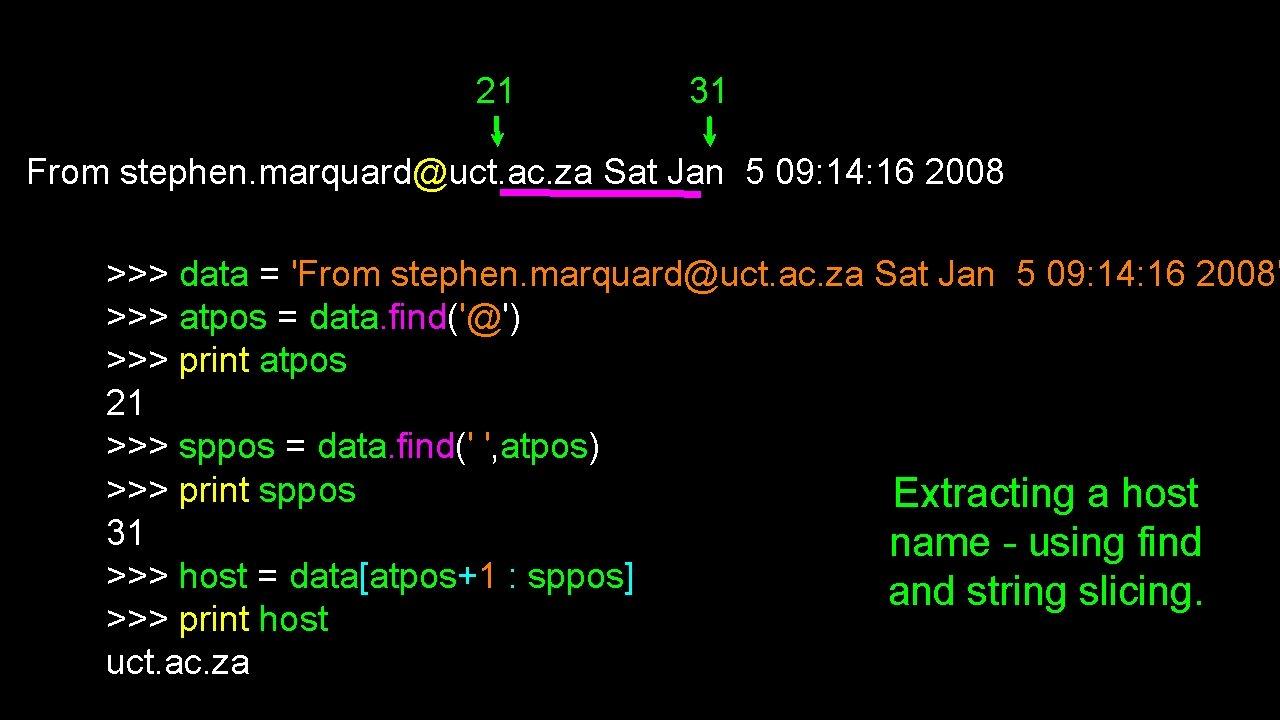 21 31 From stephen. marquard@uct. ac. za Sat Jan 5 09: 14: 16 2008