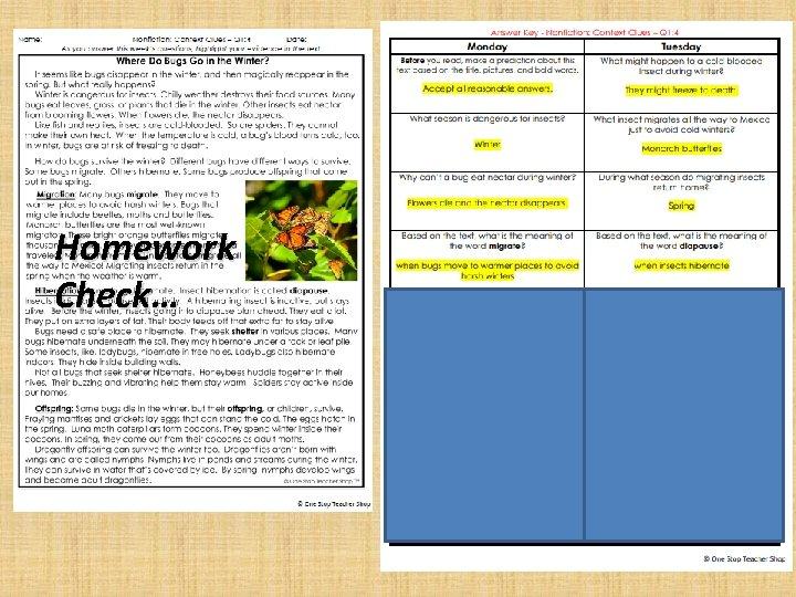 Homework Check…