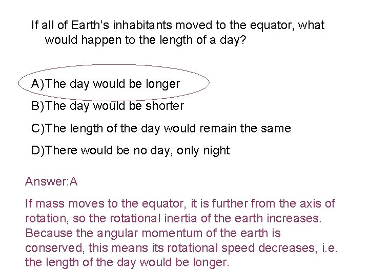 If all of Earth's inhabitants moved to the equator, what would happen to the