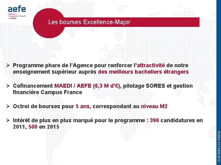 Les bourses Excellence-Major Programme phare de l'Agence pour renforcer l'attractivité de notre enseignement