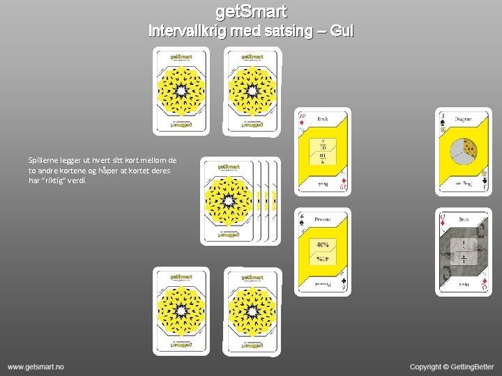 get. Smart Intervallkrig med satsing – Gul Spillerne legger ut hvert sitt kort mellom
