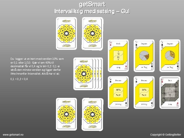 get. Smart Intervallkrig med satsing – Gul Du legger ut et kort med verdien