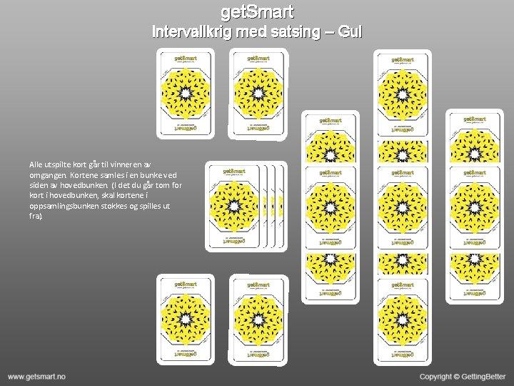 get. Smart Intervallkrig med satsing – Gul Alle utspilte kort går til vinneren av