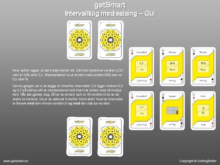 get. Smart Intervallkrig med satsing – Gul Hver spiller legger ut det tredje kortet