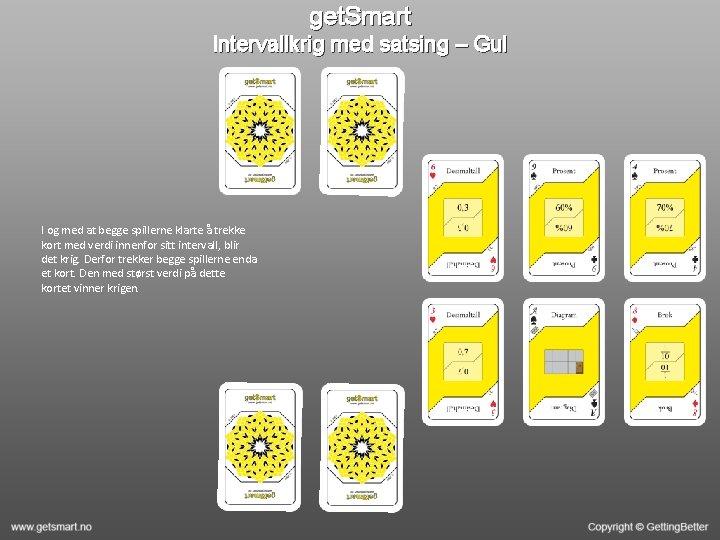 get. Smart Intervallkrig med satsing – Gul I og med at begge spillerne klarte