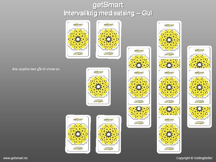 get. Smart Intervallkrig med satsing – Gul Alle utspilte kort går til vinneren.