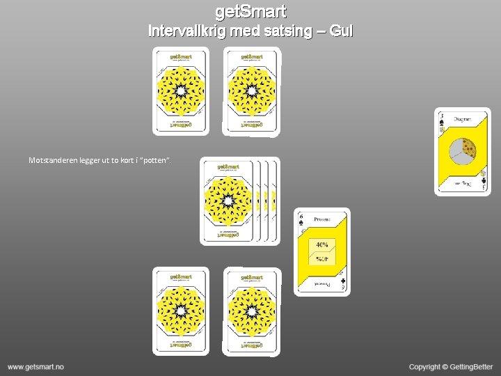 "get. Smart Intervallkrig med satsing – Gul Motstanderen legger ut to kort i ""potten""."