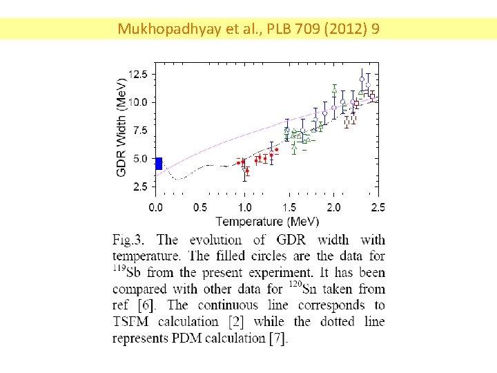 Mukhopadhyay et al. , PLB 709 (2012) 9