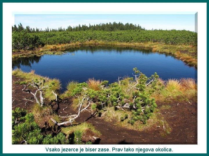 Vsako jezerce je biser zase. Prav tako njegova okolica.