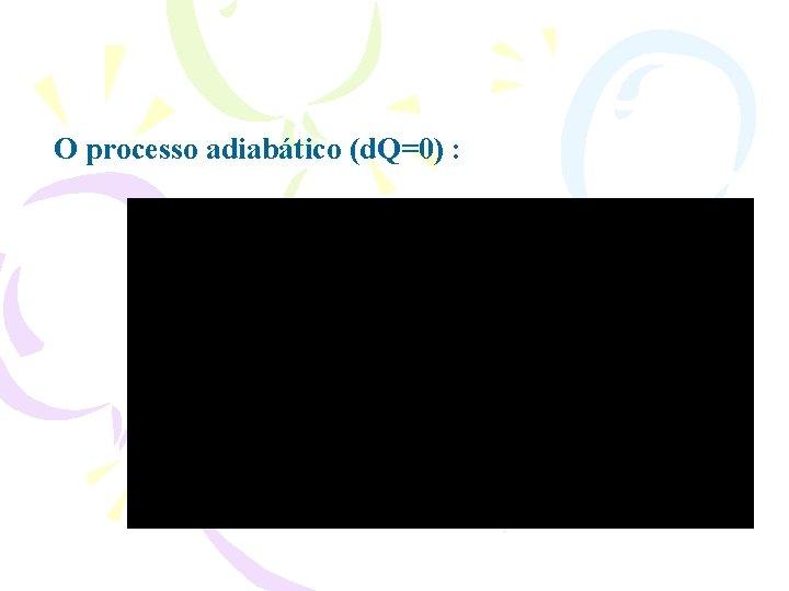 O processo adiabático (d. Q=0) :