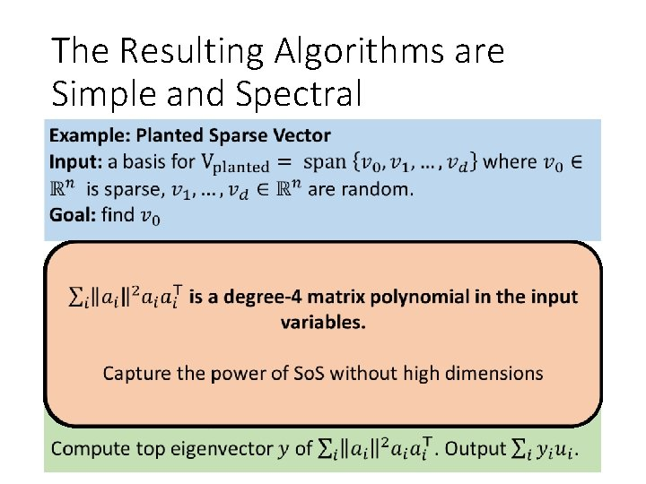 The Resulting Algorithms are Simple and Spectral