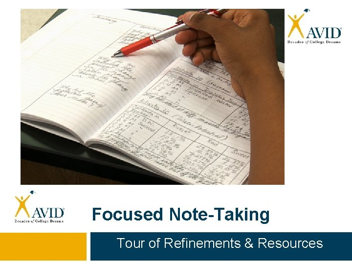 Focused Note-Taking Tour of Refinements & Resources