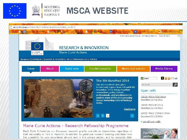MSCA WEBSITE