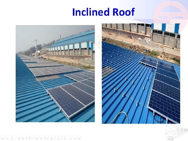 Inclined Roof Solar Panels on Inclined Sheds