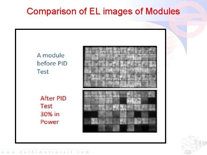 Comparison of EL images of Modules