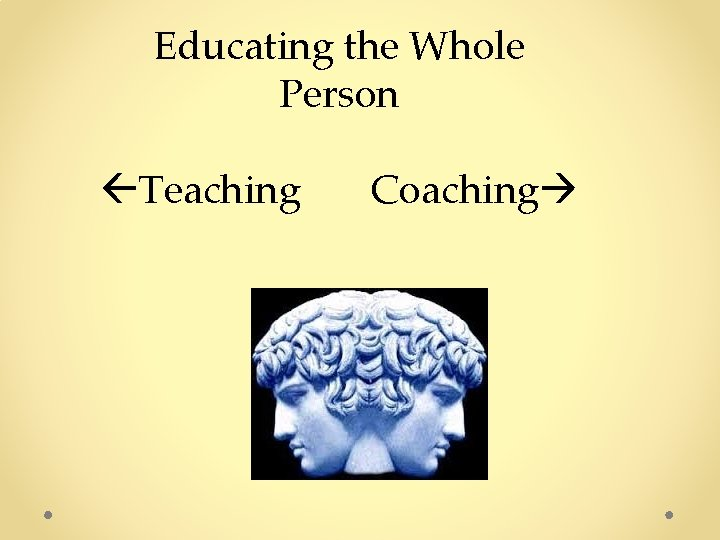 Educating the Whole Person Teaching Coaching