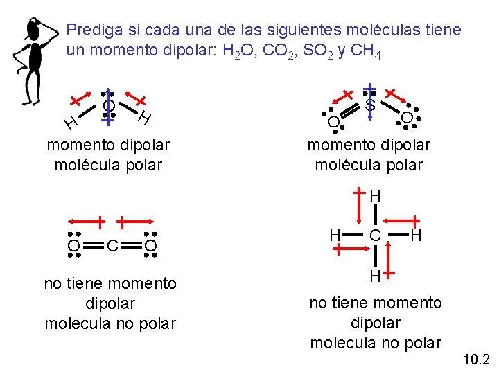 Prediga si cada una de las siguientes moléculas tiene un momento dipolar: H 2