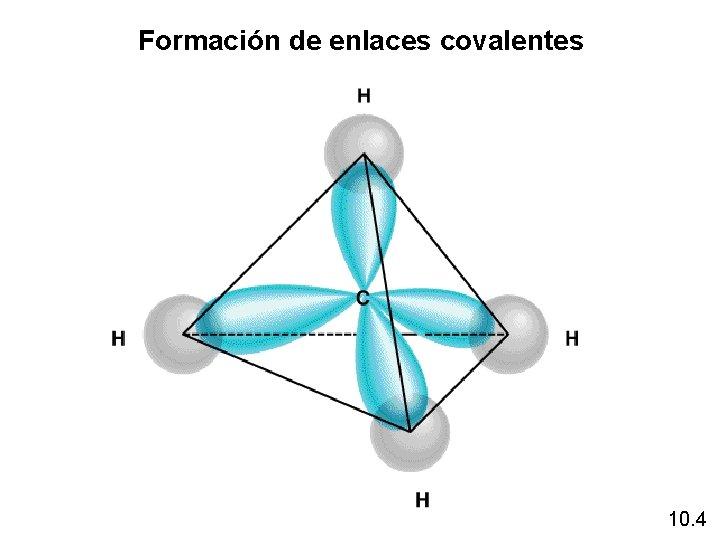 Formación de enlaces covalentes 10. 4