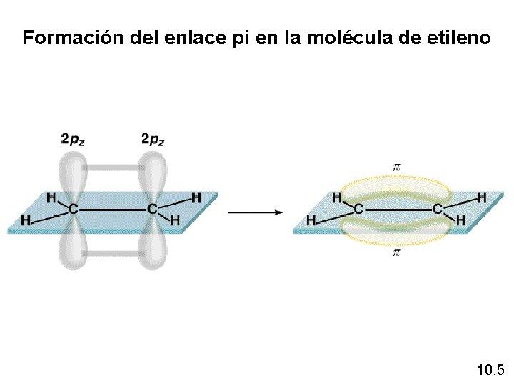 Formación del enlace pi en la molécula de etileno 10. 5