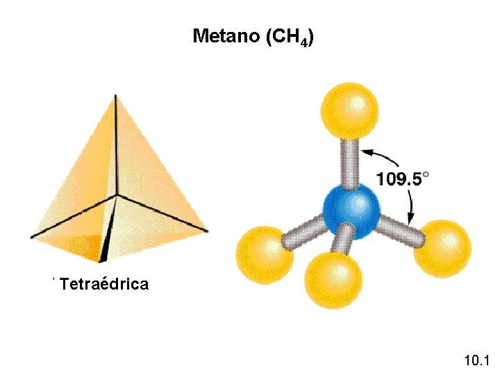 Metano (CH 4) Tetraédrica 10. 1
