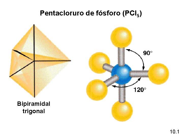 Pentacloruro de fósforo (PCl 5) Bipiramidal trigonal 10. 1