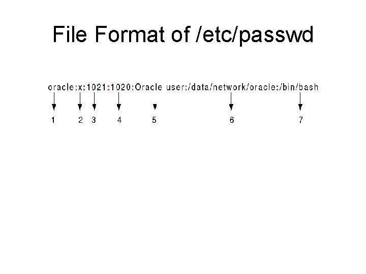 File Format of /etc/passwd