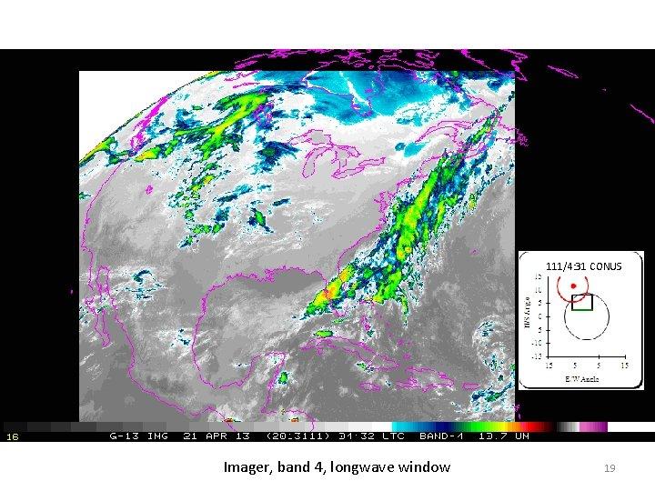 111/4: 31 CONUS Imager, band 4, longwave window 19