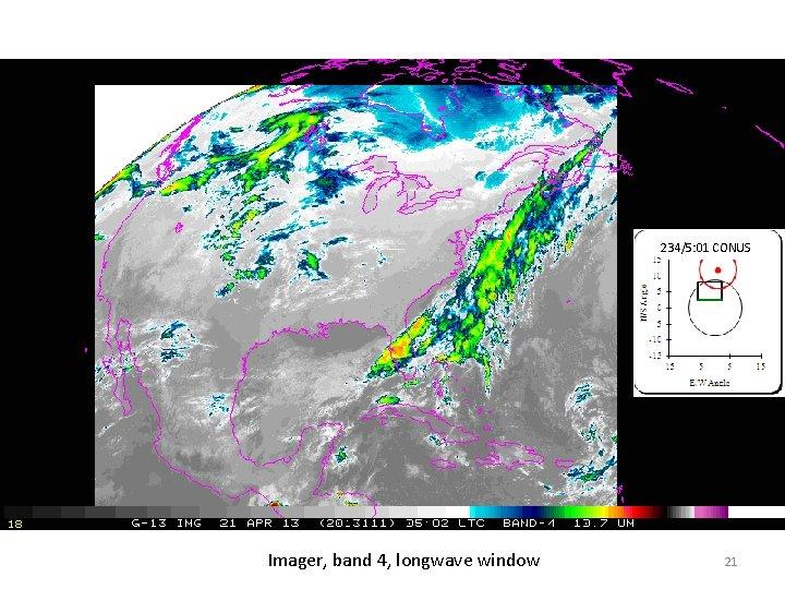 234/5: 01 CONUS Imager, band 4, longwave window 21