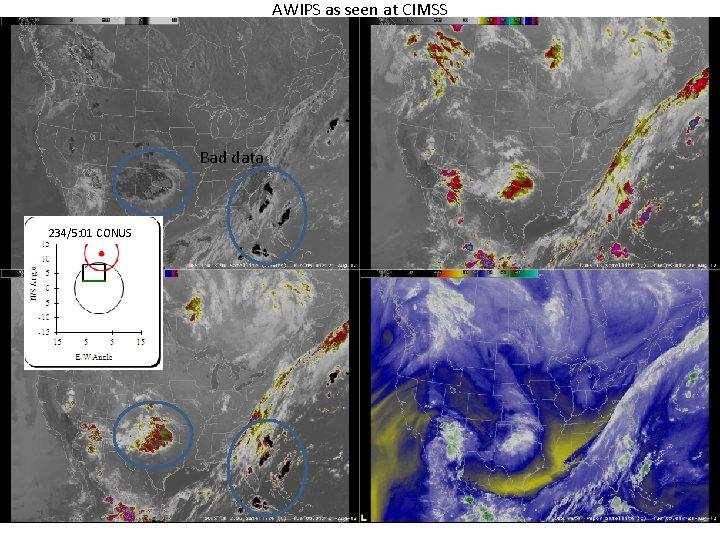 AWIPS as seen at CIMSS Bad data 234/5: 01 CONUS