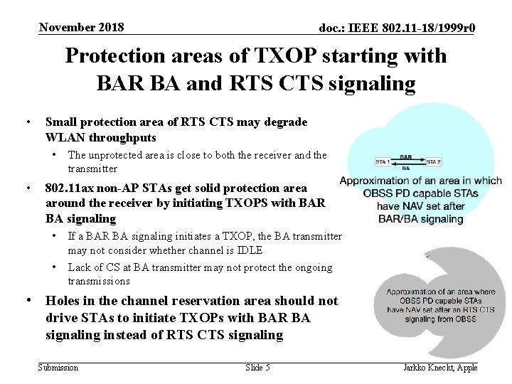 November 2018 doc. : IEEE 802. 11 -18/1999 r 0 Protection areas of TXOP
