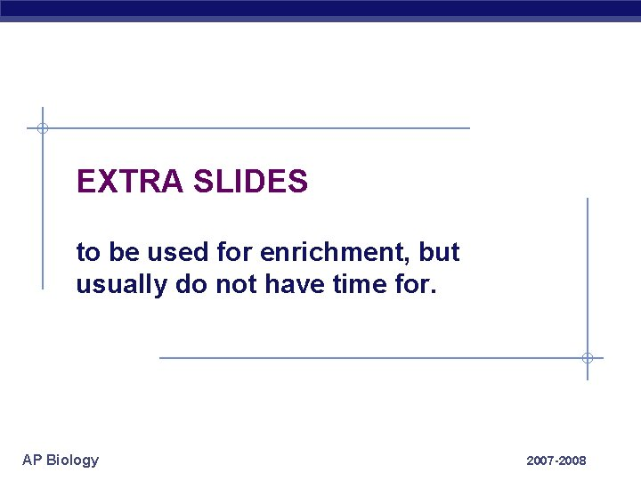EXTRA SLIDES to be used for enrichment, but usually do not have time for.