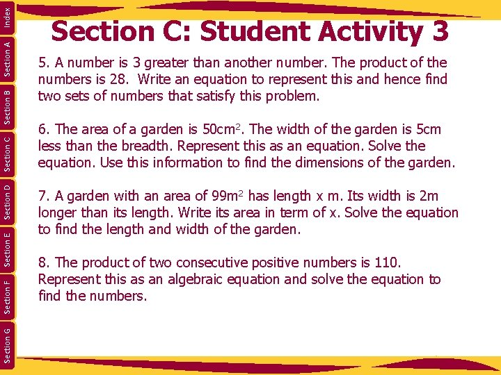 Index Section A Section B Section C Section D Section E Section F Section