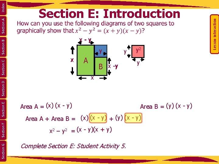 x Ax 2 y B x -y y 2 y x Index Section A