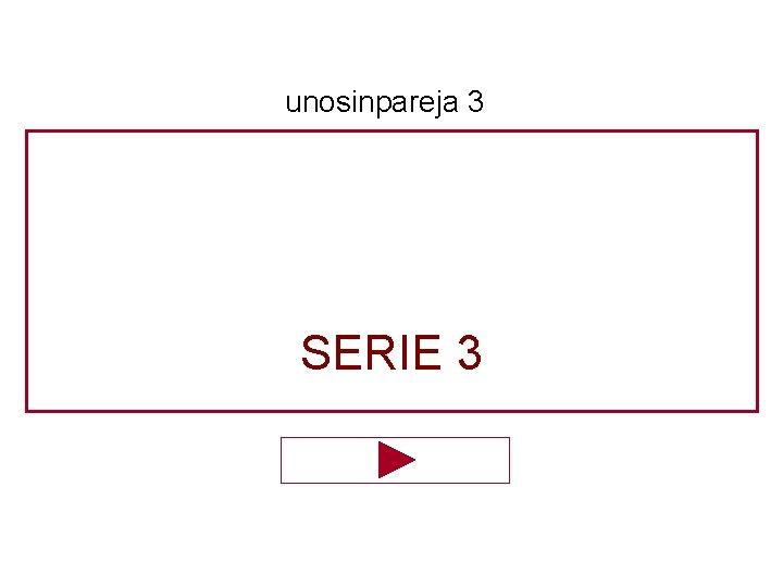 unosinpareja 3 SERIE 3