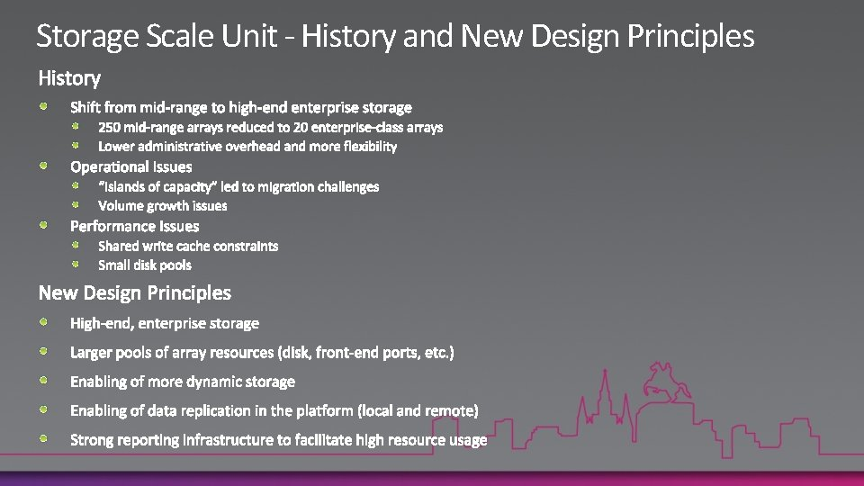 Storage Scale Unit - History and New Design Principles