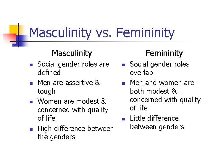 Vs femininity masculinity Frontiers