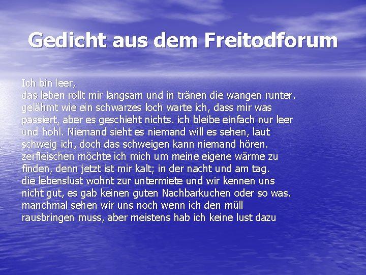 Freitodforum Freitod