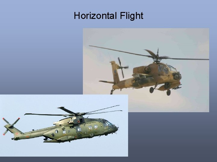 Horizontal Flight
