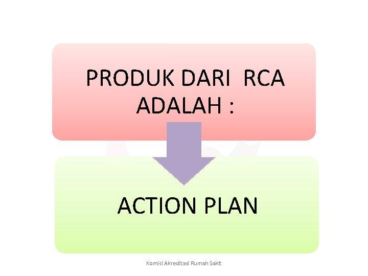 PRODUK DARI RCA ADALAH : ACTION PLAN Komisi Akreditasi Rumah Sakit