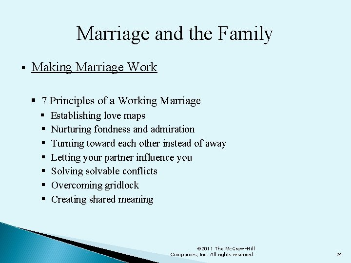 Marriage and the Family § Making Marriage Work § 7 Principles of a Working