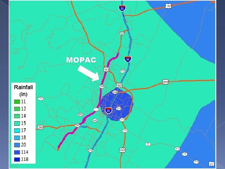 MOPAC Rainfall (in)