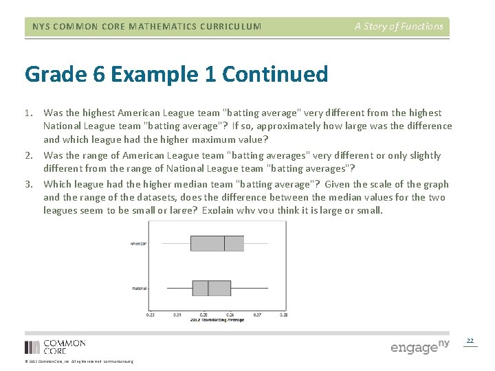 NYS COMMON CORE MATHEMATICS CURRICULUM A Story of Functions Grade 6 Example 1 Continued