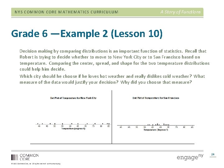 NYS COMMON CORE MATHEMATICS CURRICULUM A Story of Functions Grade 6 —Example 2 (Lesson