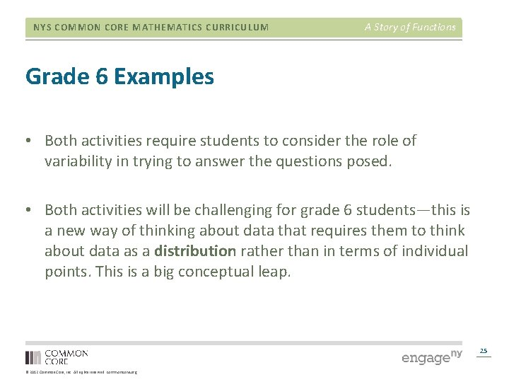 NYS COMMON CORE MATHEMATICS CURRICULUM A Story of Functions Grade 6 Examples • Both