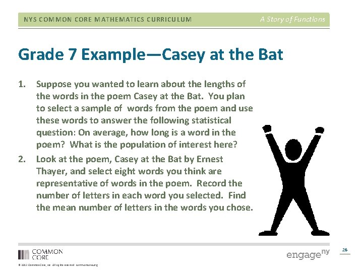 NYS COMMON CORE MATHEMATICS CURRICULUM A Story of Functions Grade 7 Example—Casey at the