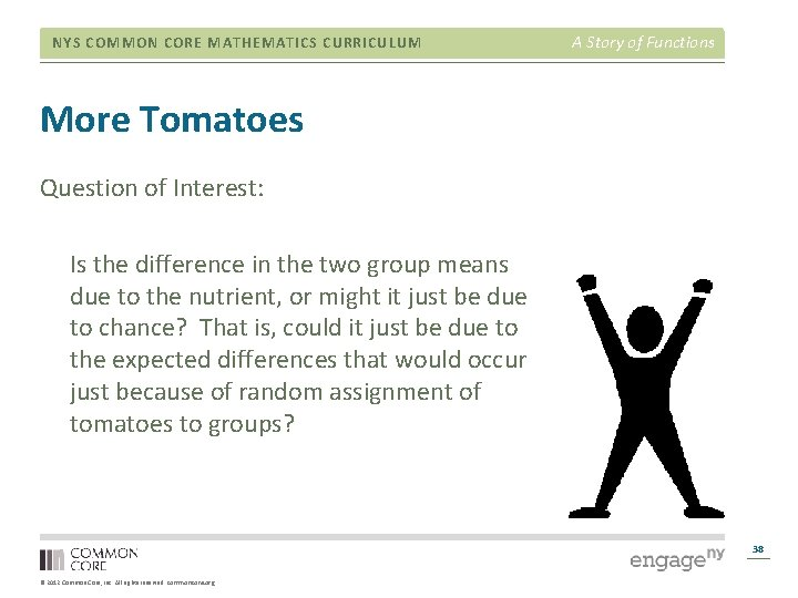 NYS COMMON CORE MATHEMATICS CURRICULUM A Story of Functions More Tomatoes Question of Interest: