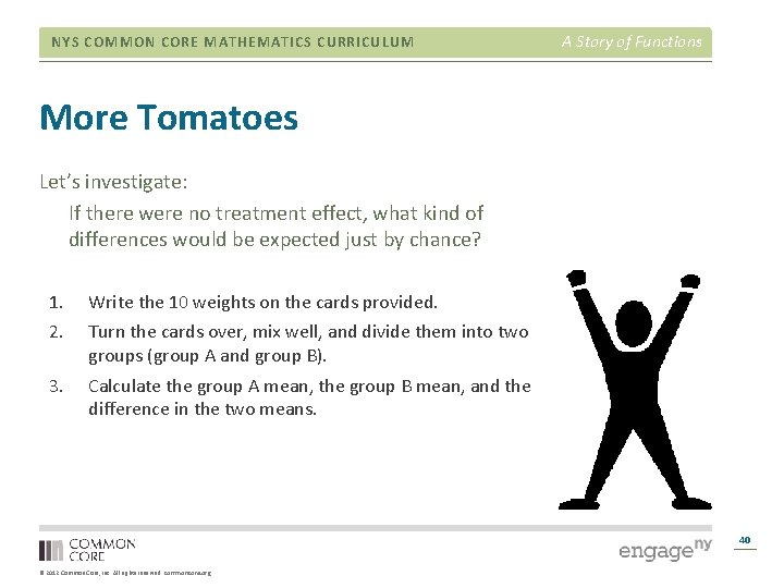 NYS COMMON CORE MATHEMATICS CURRICULUM A Story of Functions More Tomatoes Let's investigate: If