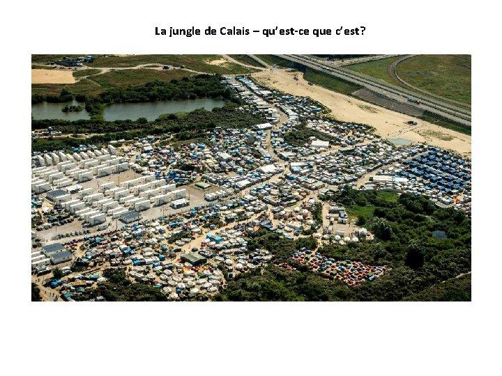 La jungle de Calais – qu'est-ce que c'est?