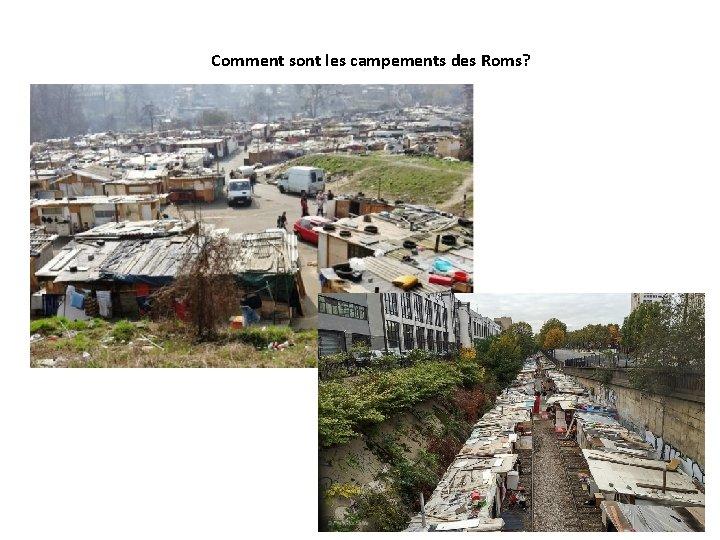 Comment sont les campements des Roms?