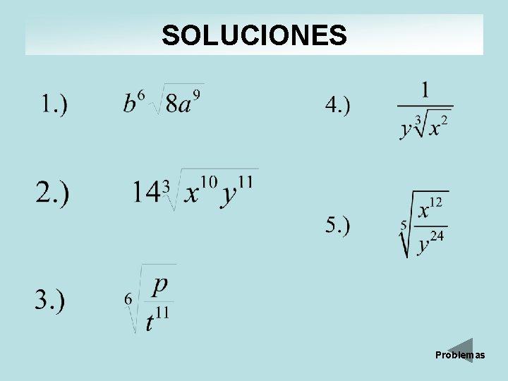 SOLUCIONES Problemas